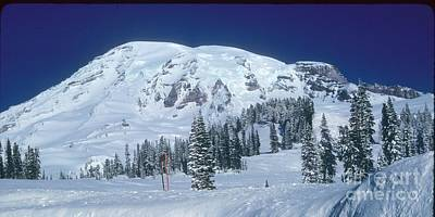 Poster featuring the photograph Mt. Rainier by Larry Keahey