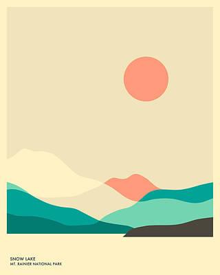 Mt. Rainier National Park, Snow Lake Poster