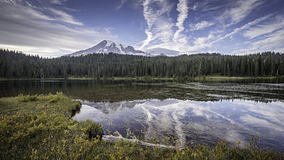 Mt. Rainier Reflection Poster by Michael Donahue