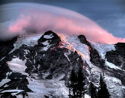 Mt Rainier Sunrise Fine Art Photograph Poster