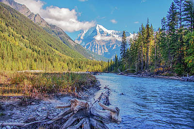 Poster featuring the photograph Mt. Robson 2009 02 by Jim Dollar