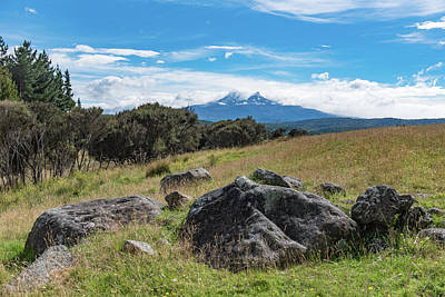 Poster featuring the photograph Mt Ruapehu View by Gary Eason