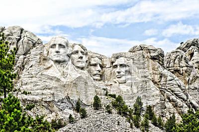 Mt Rushmore Poster by Jon Berghoff
