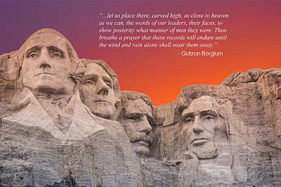 Mt. Rushmore Monument  Poster by Art Spectrum