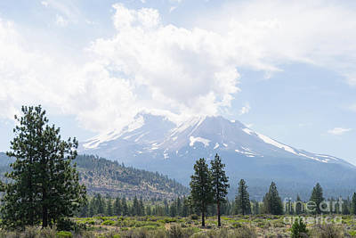 Poster featuring the photograph Mt Shasta California Dsc5035 by Wingsdomain Art and Photography