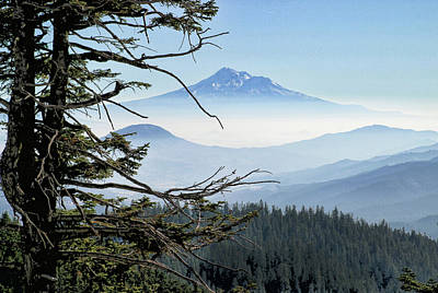 Mt. Shasta From Mt. Ashland Poster by Jim Nelson