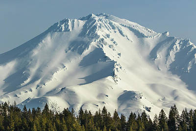Poster featuring the photograph Mt Shasta In Early Morning Light by Marc Crumpler