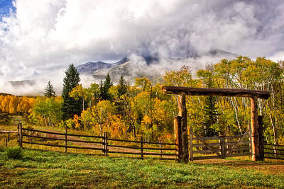 Mt Sopris Under The Clouds Poster