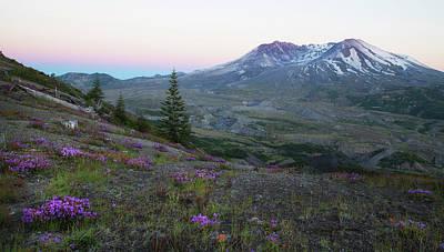 Mt. St. Helens Evening Poster