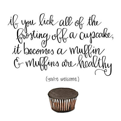 Muffins Poster by Nancy Ingersoll