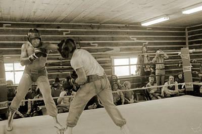 Muhammad Ali And Ernie Jones Spar Poster