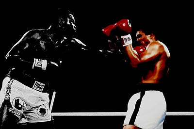 Muhammad Ali And Larry Holmes Poster by Brian Reaves
