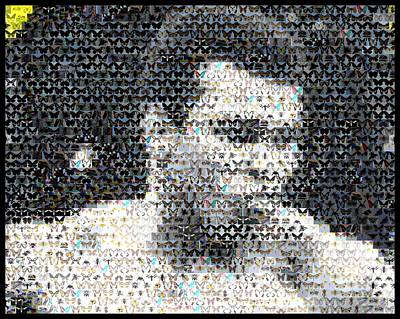 Muhammad Ali Butterfly Bee Mosaic Poster