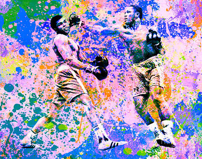 Muhammed Ali Vs Joe Frazier Sport Pop Art Pur 1 Poster