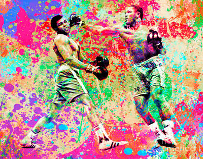 Muhammed Ali Vs Joe Frazier Sport Pop Art Pur Poster