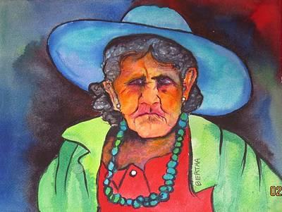 Poster featuring the painting Mujer De Jocotepic  by Karen bertha Calderon