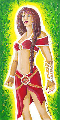 Muladhara Root Chakra Goddess Poster by Divinity MonSun Chan
