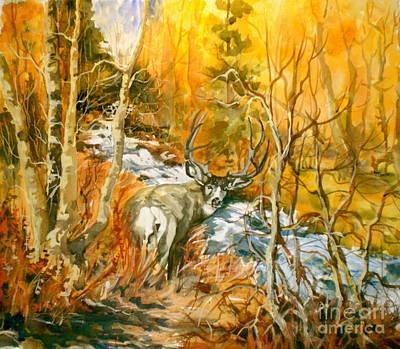 Mule Deer Bishop Creek Poster