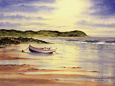 Poster featuring the painting Mull Of Kintyre Scotland by Bill Holkham