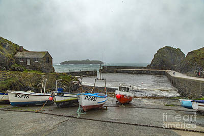 Poster featuring the photograph Mullion Cove Harbour by Brian Roscorla