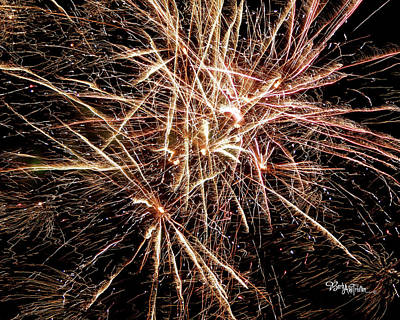 Poster featuring the photograph Multi Blast Fireworks #0721 by Barbara Tristan