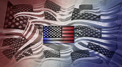 Multi - Flag Abstract 2 Poster by Steve Ohlsen