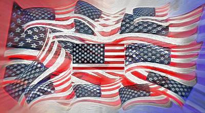 Multi - Flag Abstract  Poster by Steve Ohlsen