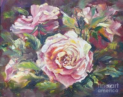 Multi-hue And Petal Rose. Poster