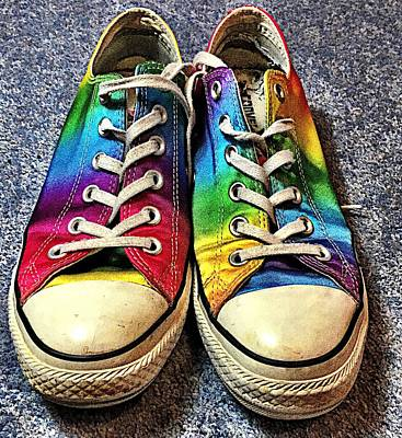 Multicolored Sneakers 1 Poster by Mo Barton