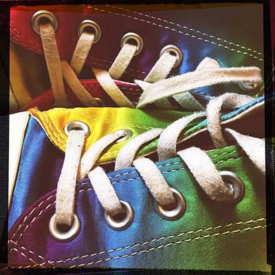 Multicolored Sneakers 10 Poster by Mo Barton