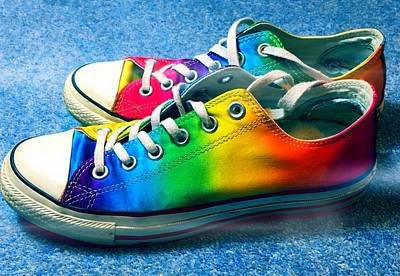 Multicolored Sneakers 2 Poster by Mo Barton