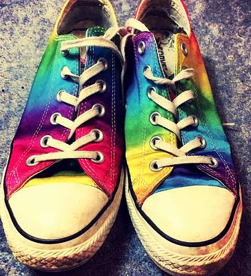 Multicolored Sneakers 3 Poster by Mo Barton