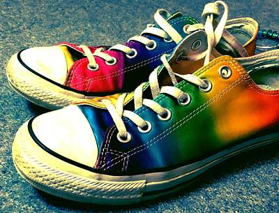 Multicolored Sneakers 5 Poster by Mo Barton