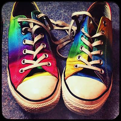 Multicolored Sneakers 6 Poster by Mo Barton