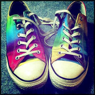 Multicolored Sneakers 7 Poster by Mo Barton