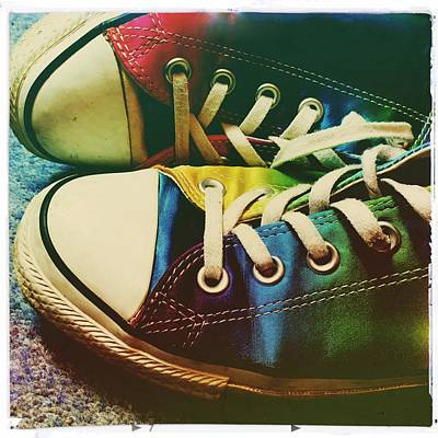 Multicolored Sneakers 9 Poster by Mo Barton