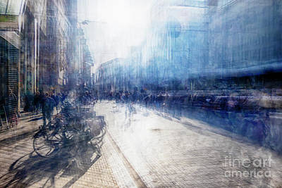 Poster featuring the photograph Multiple Exposure Of Shopping Street by Ariadna De Raadt