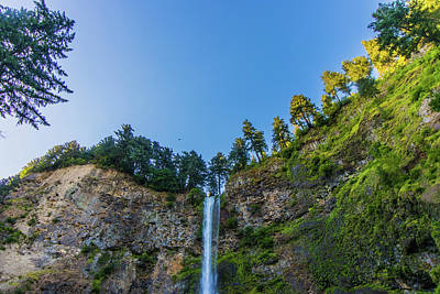 Poster featuring the photograph Multnomah Falls Cliff by Jonny D