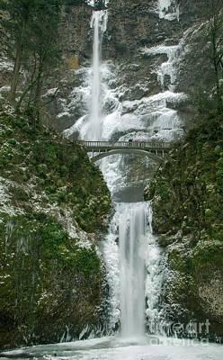Multnomah Falls Ice Poster