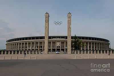 Berlin Olympic Stadium Poster by Nichola Denny