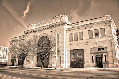 Municipal Pier Number 38 - Philadelphia In Sepia Poster by Bill Cannon