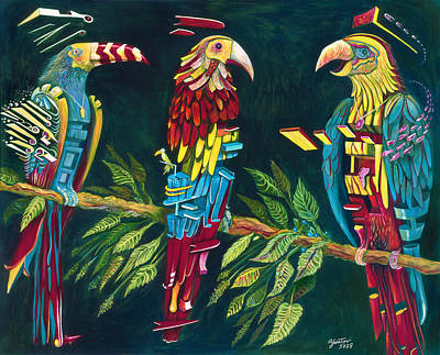 Munton Parrots Poster