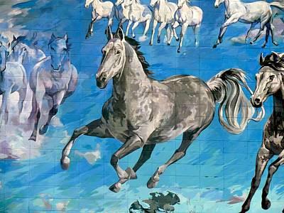 mural detail Equus Descending  Poster