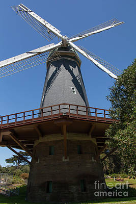 Poster featuring the photograph Murphy Windmill San Francisco Golden Gate Park San Francisco California 5d3241 by San Francisco Art and Photography