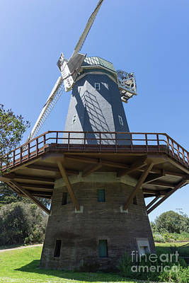 Poster featuring the photograph Murphy Windmill San Francisco Golden Gate Park San Francisco California Dsc6337 by San Francisco Art and Photography