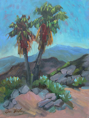 Poster featuring the painting Murray Trail Andreas Canyon by Diane McClary