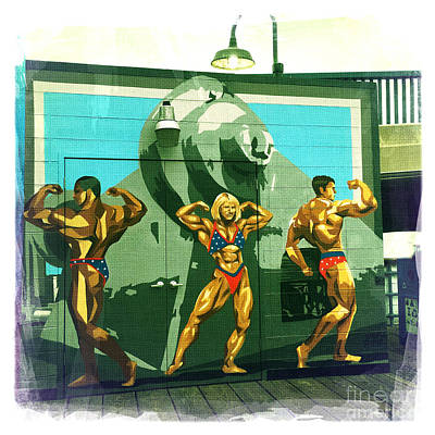 Muscle Beach Poster by Nina Prommer