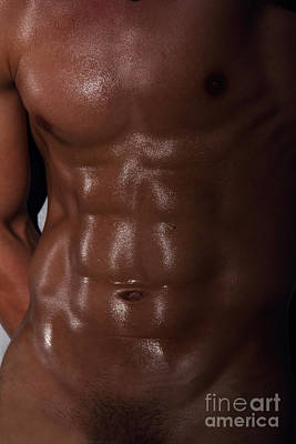 Muscle Man Poster by Mark Ashkenazi