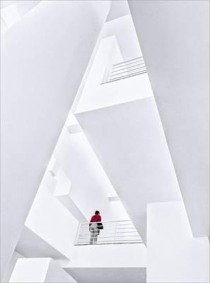 Museu Da??art Contemporani De Barcelona Poster by Herbert A. Franke