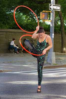 Museum Mile Nyc 6_14_16 Dancer With Hula Hoops Poster by Robert Ullmann